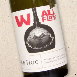 Ad Hoc Wallflower Great Southern Riesling.- from the Larry Cherubino range.